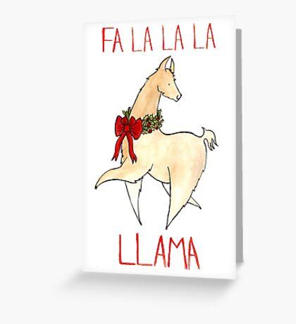 Fa La La La Llama Greeting Card