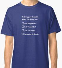 Tech Support T shirt Classic T-Shirt