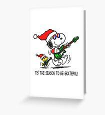 Tis the season to be grateful 1 Greeting Card