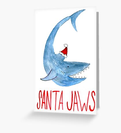 Santa Jaws 2 Greeting Card
