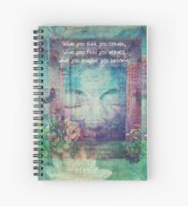 Inspiring Buddha quote about positive thinking Spiral Notebook