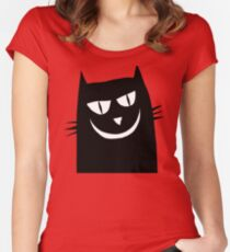 Cléo le chat malicieux Women's Fitted Scoop T-Shirt