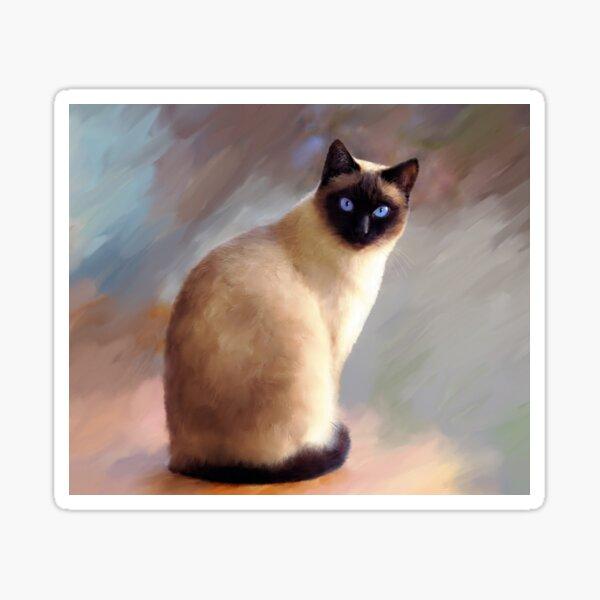 Cat 613 Siamese Sticker