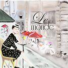 Montreal Bistro, Le Monde Series by Elizabeth Reoch
