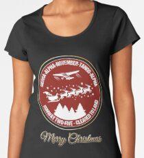 Pilot Christmas Gift Aviation Air Traffic Controller Holiday Santa Airlines Retro Design T-Shirt  Women's Premium T-Shirt