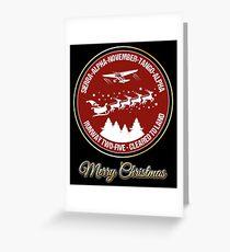 Pilot Christmas Gift Aviation Air Traffic Controller Holiday Santa Airlines Retro Design T-Shirt  Greeting Card