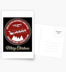 Pilot Christmas Gift Aviation Air Traffic Controller Holiday Santa Airlines Retro Design T-Shirt  Postcards