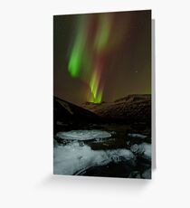 Auroral Night in East Iceland Greeting Card