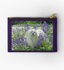 Snowdrop the Maltese -  in the Bluebell Woods Studio Pouch