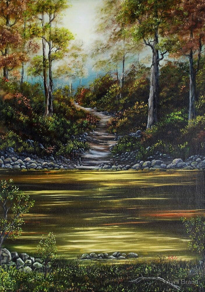 Woodland Peace - Oil Painting by Avril Brand