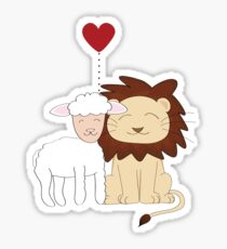 The lion and the lamb Sticker
