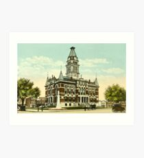 Washtenaw Co. Courthouse, Ann Arbor, MI 1910 Art Print