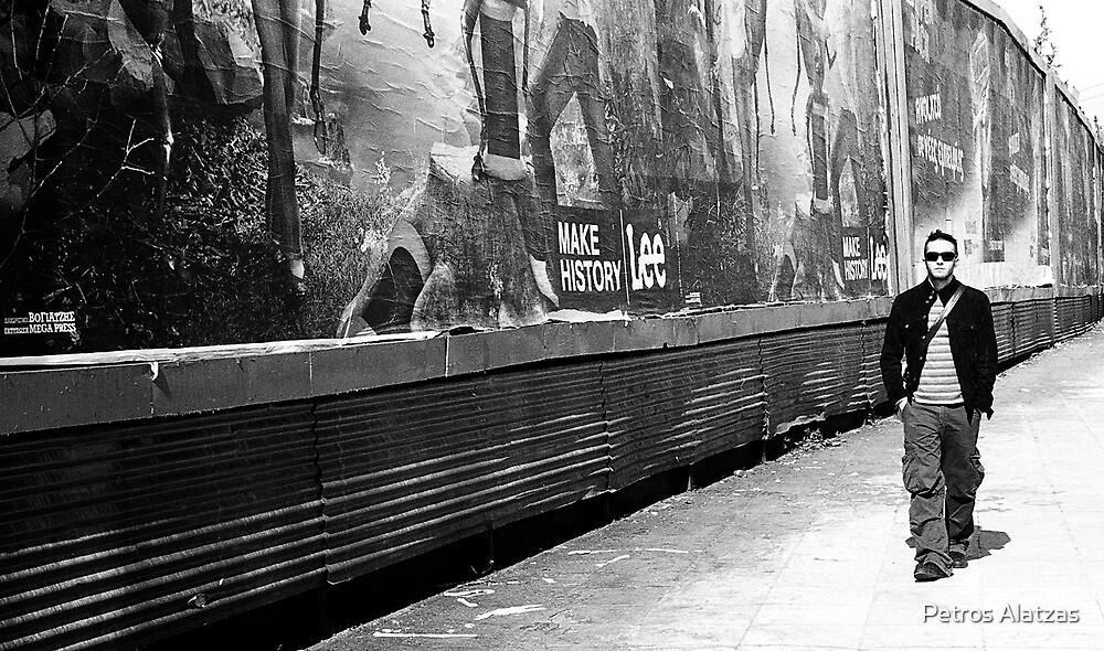 walking in the city by Petros Alatzas