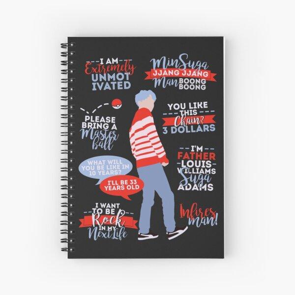 BTS Suga Quotes Cuaderno de espiral