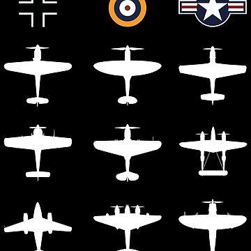 WW2 Warbird GATHERING Messerschmitt Mustang Spitfire Lightning Pilot Gift by stearman