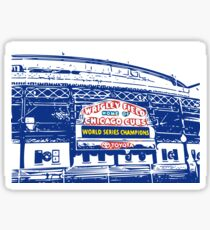 Wrigley Champs Marquee Outline Sticker