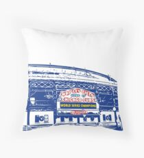 Wrigley Champs Marquee Outline Throw Pillow