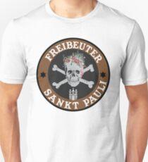 Sankt Pauli skull with flowers Unisex T-Shirt