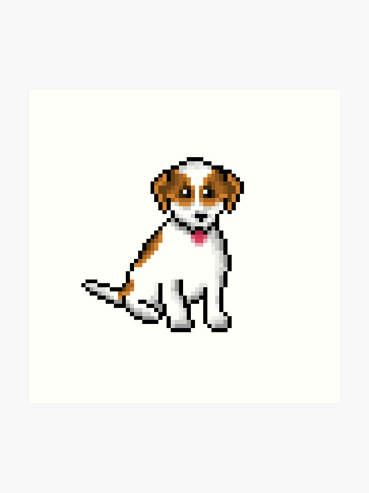 Pixel Art Chien Chien Impression Artistique