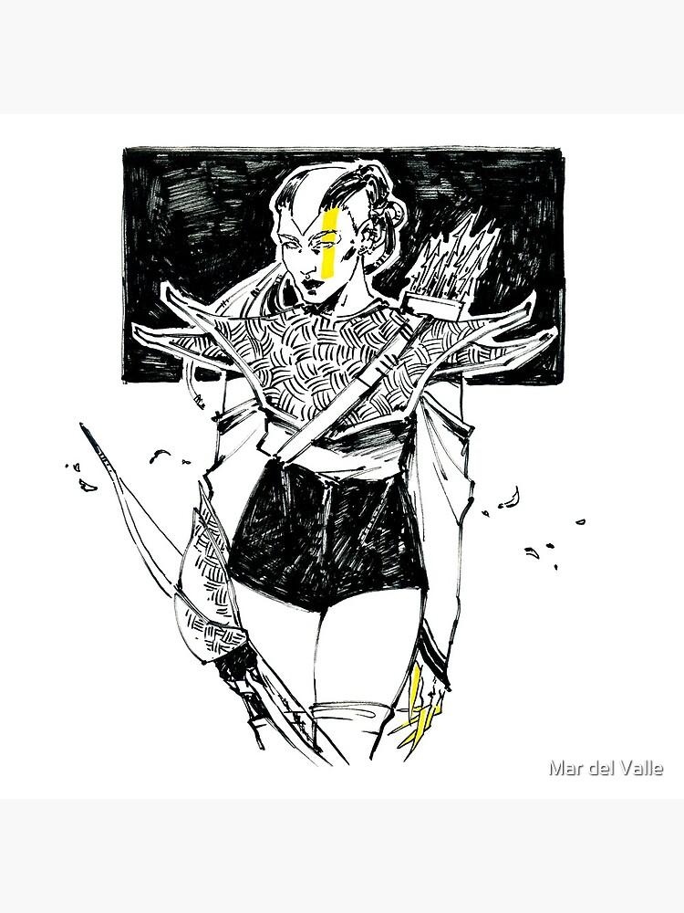 Golden Archer - Arquera Dorada by mardelvallearts