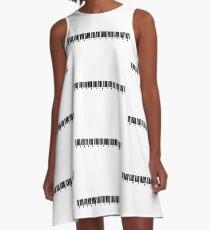 BENDELACREME barcode A-Line Dress