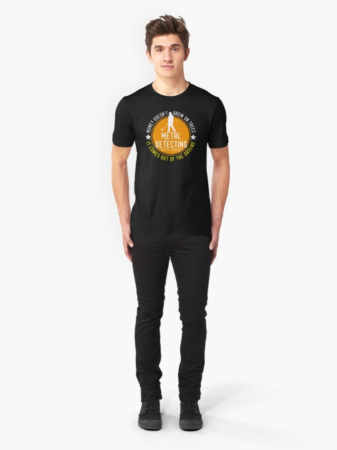 Alternate view of Metal detecting tshirt - great gift for treausre hunters and metal detectorists Slim Fit T-Shirt