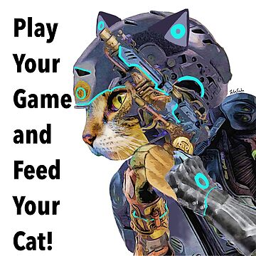 Play your game and feed your cat! by felissimha