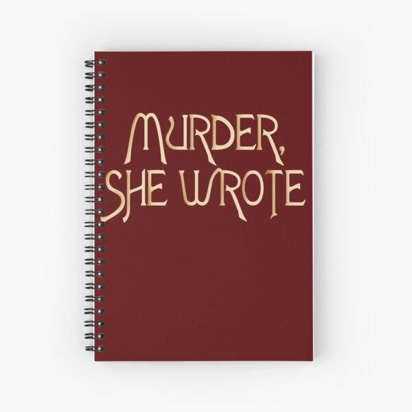 Mord, schrieb sie Spiralblock