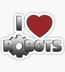 I Love Robots Sticker