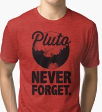 Pluto Never Forget Tri-blend T-Shirt