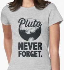 Pluto Never Forget Women's Fitted T-Shirt