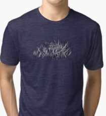 American Woodcock Black & White Tri-blend T-Shirt