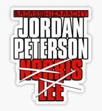 Badass Hierarchy Jordan Peterson Norris Lee  Sticker