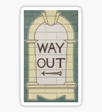 Way Out (left) Sticker