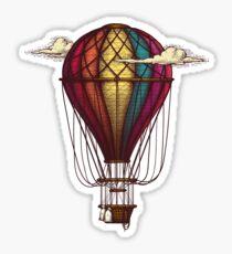 Jeweled Hot-Air Balloon Sticker