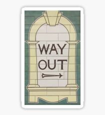 Way out (right) Sticker