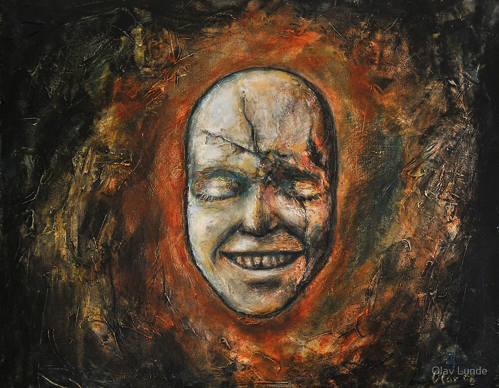 Death mask by Olav Lunde