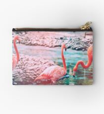 Exotic flamingos Studio Pouch