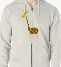 Giraffe funny Zipped Hoodie