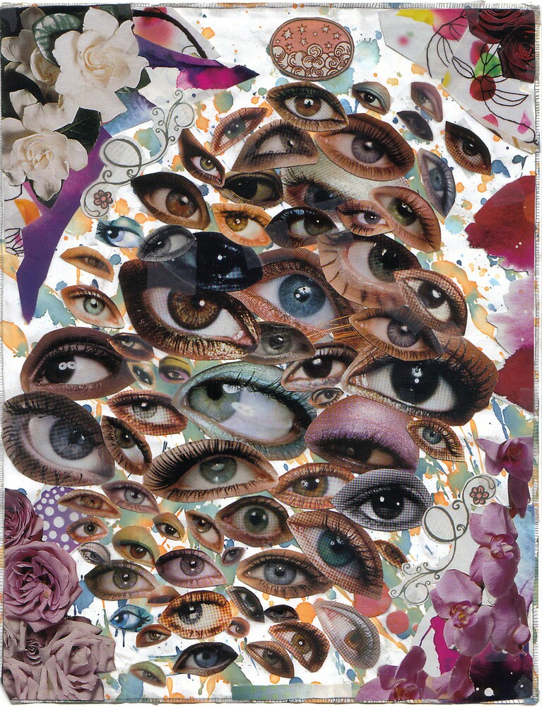 eye collage by snowhitetrash