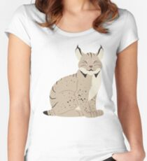 Canadian Lynx Cutie Fitted Scoop T-Shirt