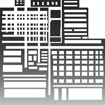 8-Bit City- Black Version by sketchbooksage