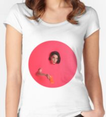 St Vincent Pink Women's Fitted Scoop T-Shirt