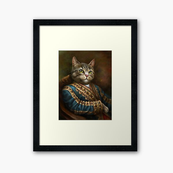 The Hermitage Court Outrunner Cat  Framed Art Print