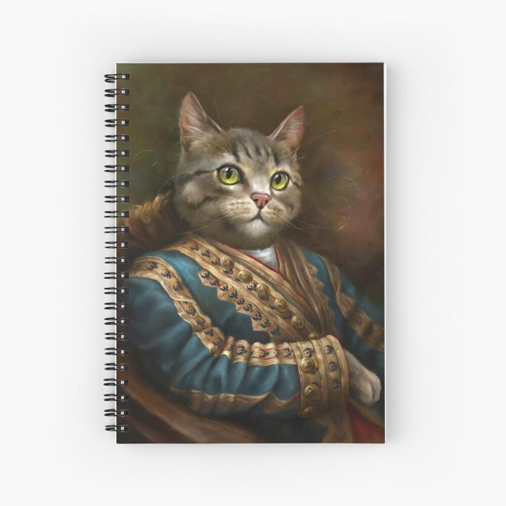 El gato Outrunner de la corte del Hermitage Cuaderno de espiral