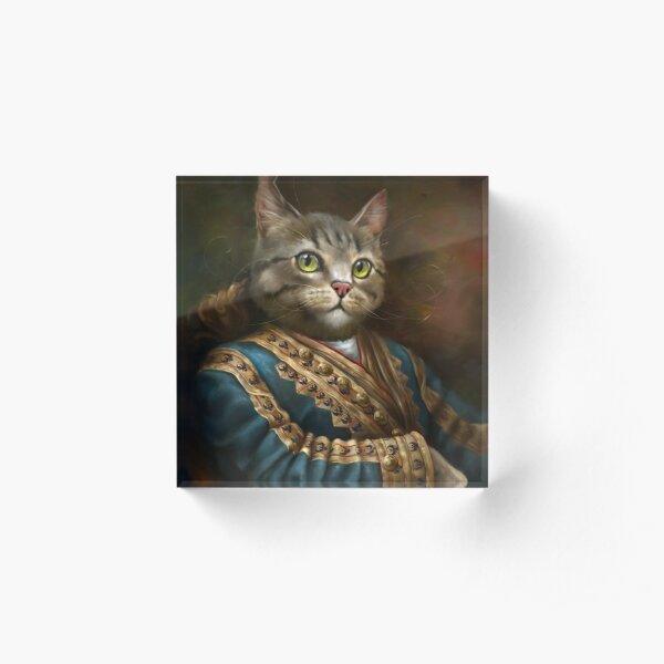 The Hermitage Court Outrunner Cat  Acrylic Block