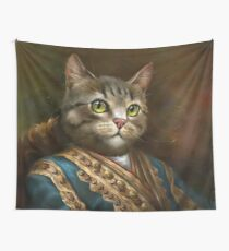 The Hermitage Court Outrunner Cat  Wall Tapestry