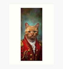 Court General Wise Cat  Art Print