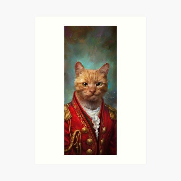 Court General Wise Cat  Art Print