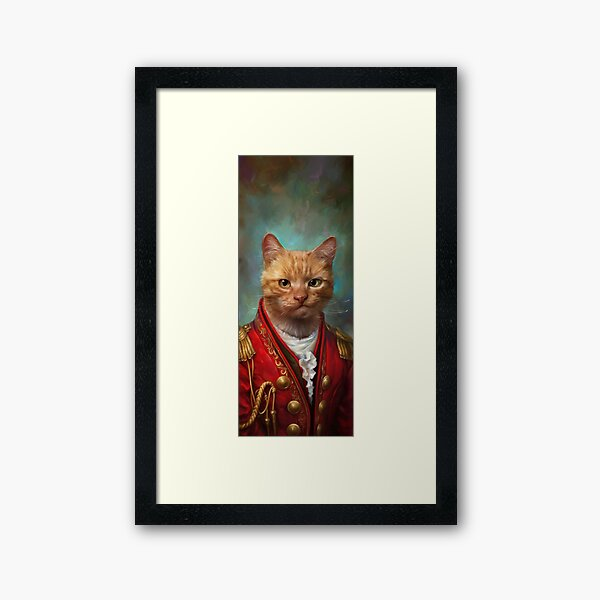 Court General Wise Cat  Framed Art Print